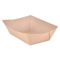 Food Trays, Paperboard, Brown Kraft, 3-Lb Capacity, 500/Carton 0525