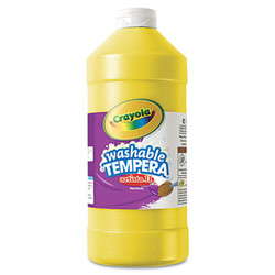 Artista II Washable Tempera Paint, Yellow, 32 oz 54-3132-034