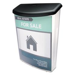 Outdoor Literature Box, 10w x 4.5d x 13.13h, Clear/Black 790901
