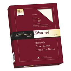 100% Cotton Resume Paper, 32 lb, 8.5 x 11, Ivory, 100/Pack RD18ICF