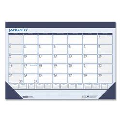 100% Recycled Contempo Desk Pad Calendar, 22 x 17, Blue, 2021 151