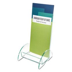 Euro-Style DocuHolder, Leaflet Size, 4.5w x 4.5d x 7.88h, Green Tinted 775383