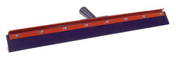 Floor Squeegees, 24 in, Black Rubber, Straight