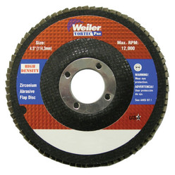 "4-1/2"" Vortec Pro High Density Abrasive Flap Disc, Flat"