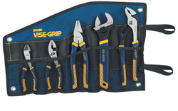 5-pc ProPlier Set, Slip Joint, Lineman Plier, Adj. Wrench, Groove Joint,Tray,Bag