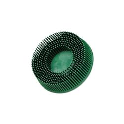 Scotch-Brite Roloc Bristle Discs, 3 in, 50, 15,000 rpm, Green