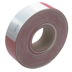 Diamond Grade Conspicuity Marking Roll, 2 in X 150 ft, Red/White