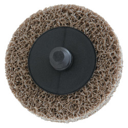 Deburring /Finishing Button Mount Wheel Type lll 2A, 2X1/4, Med, Aluminum Oxide