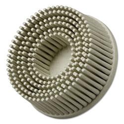 Scotch-Brite Roloc Bristle Discs, 3 in, 80, 15,000 rpm, Brown