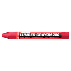 #200 Lumber Crayons, 1/2 in, Red
