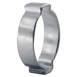 2-Ear Zinc-Plated Hose Clamp, 7/8 in OD, 0.748 in-0.906 in dia, 0.354 in W