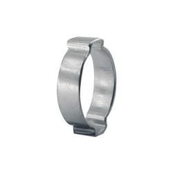 2-Ear Zinc-Plated Hose Clamp, 5/8 in OD, 0.591 in-0.709 in dia, 0.315 in W