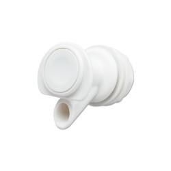 SPIGOT WHITE PLASTIC