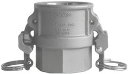 EZ Boss-Lock Type D Cam and Groove Couplers, 2 in (NPT), Stainless Steel
