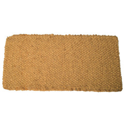 Coco Mat, 22 in Long, 36 in Wide, Natural Tan