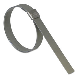 Junior® Smooth Id Clamp, 13/16 in Dia, 1/4 in W, Stainless Steel 201