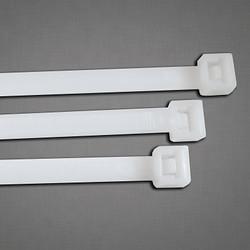 General Purpose Cable Ties, 18 Lb Tensile Strength, 4.1 in L, Natural, 100 Ea/Bag