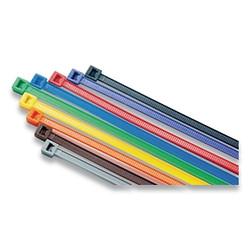 General Purpose Cable Ties, 50 Lb Tensile Strength, 14.6 in L, Green, 100 Ea/Bag
