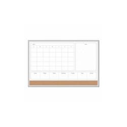 4N1 Magnetic Dry Erase Combo Board, 36 x 24, White/Natural 3891U0001