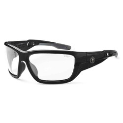 BALDR Anti-Fog Clear Lens Black Safety Glasses