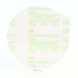 3M Microfinishing PSA Film Type D Disc 268L, 5 in x NH 30 Micron