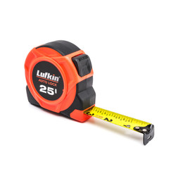 "1"" x 25' Hi-Viz® Orange Auto-Lock Yellow Clad Tape Measure"