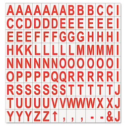 """Interchangeable Magnetic Board Accessories, Letters, Red, 3/4""""h KT2221"""