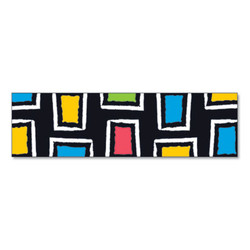"Bolder Borders, 2 3/4"" x 42"", Bold Strokes Rectangles, Assorted T85142"