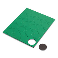 """Heavy-Duty Board Magnets, Circles, Green, 0.75"""", 20/Pack FM1602"""