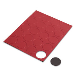 """Heavy-Duty Board Magnets, Circles, Red, 0.75"""", 20/Pack FM1604"""