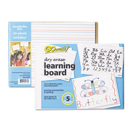 Dry Erase Learning Boards, 8 1/4 x 11, 5 Boards/PK LB8511