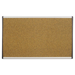 ARC Frame Cork Cubicle Board, 14 x 24, Tan, Aluminum Frame ARCB2414