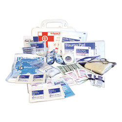 10-Person First Aid Kit, 62 Pieces, 8.5 x 5.5 x 3.25, Plastic Case 7317