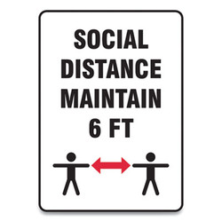 Accuform Sign,Social Distance 10x7 MGNF547VPESP