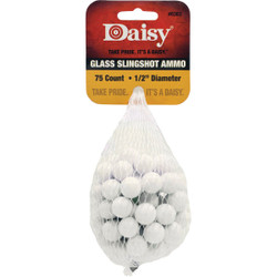 Daisy Glass 1/2 In. Slingshot Ammunition (75-Count) 998383-506