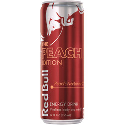 Red Bull 12 Oz. Peach Flavor Energy Drink RB224825 Pack of 24