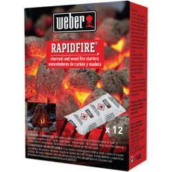 Weber Rapid Fire Odorless Lighter Pack (12-Pack) 7480