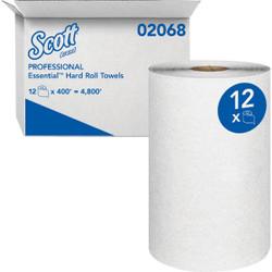 Kimberly Clark Scott Essential White Hard Roll Towel (12 Count) 02068