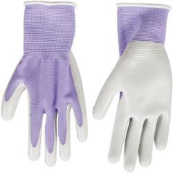 Best Garden Accent Women's 1 Size Fits All Nitrile Coated Garden Glove FL6802