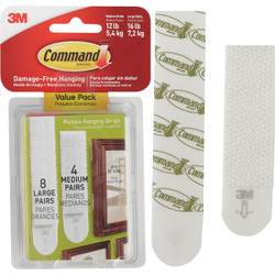 3M Command Assorted Picture Hanging Strips Value Pack 17209-ES