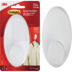 3M Command White Adhesive Hanger Wardrobe Hook 17019-ES