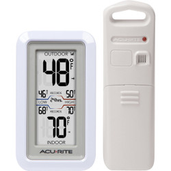 Acu-Rite Digital Thermometer with Indoor/Outdoor Sensor 02049