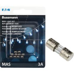 Bussmann Strand Saver 3A Glass Christmas Light Set Fuses BP/MAS-3A