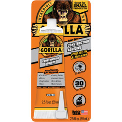 Gorilla 2.5 Oz. All Surface Construction Adhesive 8020002