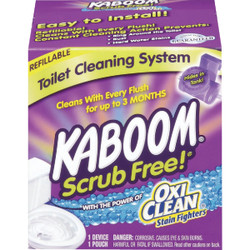 KABOOM Scrub Free Refillable Automatic Toilet Cleaner System 35113