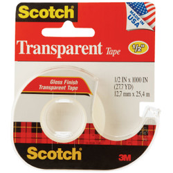 3M Scotch 1/2 In. x 1000 In. Transparent Tape 174