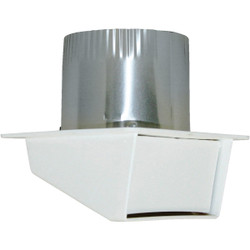 Builders Best 4 In. White Plastic Eave & Soffit Vent 111804