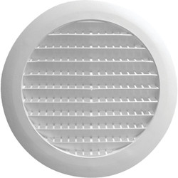 Builders Best 6 In. White Plastic Round Eave & Soffit Vent RDV6S01