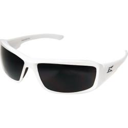 Edge Eyewear Brazeau Gloss White Frame Safety Glasses with Smoke Lenses XB146