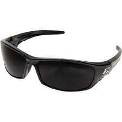 Edge Eyewear Recluse Gloss Black Frame Safety Glasses with Smoke Lenses SR116